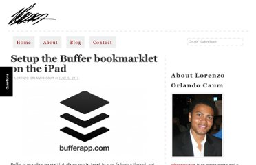 http://lorenzocaum.com/blog/setup-the-buffer-bookmarklet-on-the-ipad/
