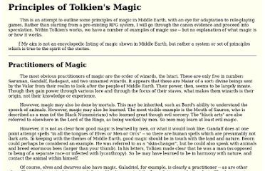 http://www.darkshire.net/jhkim/rpg/lordoftherings/magic/principles.html