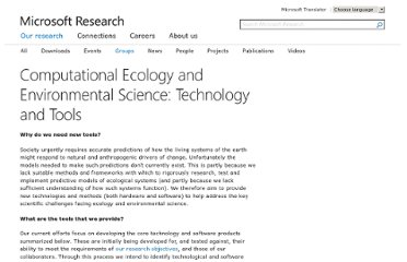 http://research.microsoft.com/en-us/groups/ecology/ecotechandtools.aspx