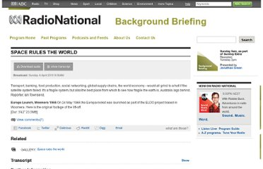 http://www.abc.net.au/radionational/programs/backgroundbriefing/space-rules-the-world/3112100