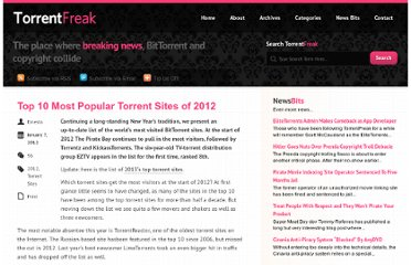 http://torrentfreak.com/top-10-most-popular-torrent-sites-of-2012-120107/