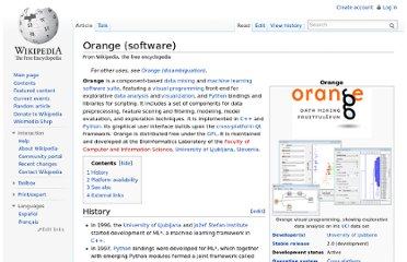 http://en.wikipedia.org/wiki/Orange_(software)