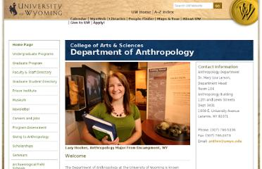 http://www.uwyo.edu/anthropology/index.html