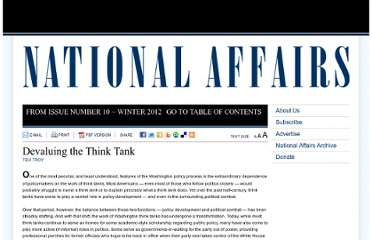 http://www.nationalaffairs.com/publications/detail/devaluing-the-think-tank
