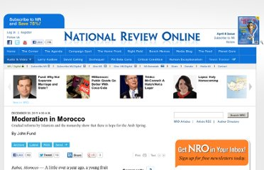 http://www.nationalreview.com/articles/286802/moderation-morocco-john-fund