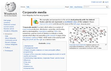 http://en.wikipedia.org/wiki/Corporate_media