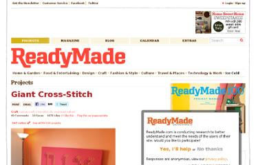 http://www.readymade.com/projects/giant_cross-stitch