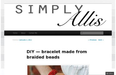 http://simplyallis.wordpress.com/2012/01/03/diy-bracelet-made-from-braided-beads/