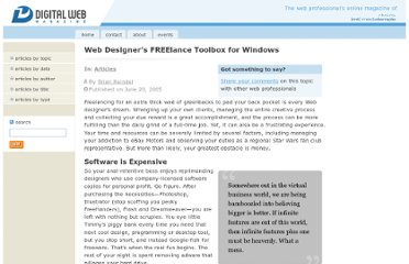 http://www.digital-web.com/articles/web_designers_freelance_toolbox_for_windows/
