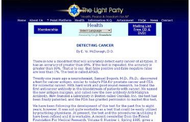 http://www.lightparty.com/Health/DetectCancer.html