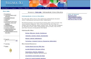 http://www.sigmaxi.org/resources/links/undergrad.shtml#problem