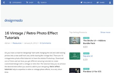 http://designmodo.com/vintage-retro-photo-effect-tutorials/