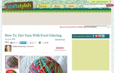 http://www.craftstylish.com/item/4598/how-to-dye-yarn-with-food-coloring