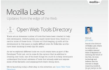 https://mozillalabs.com/blog/2009/07/open-web-tools-directory/
