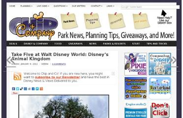 http://www.chipandco.com/2012/01/take-five-at-walt-disney-world-disneys-animal-kingdom/