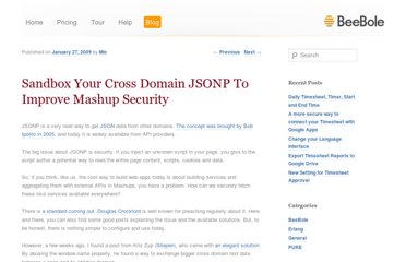 http://beebole.com/blog/general/sandbox-your-cross-domain-jsonp-to-improve-mashup-security/