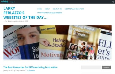 http://larryferlazzo.edublogs.org/2012/01/09/the-best-resources-on-differentiating-instruction/