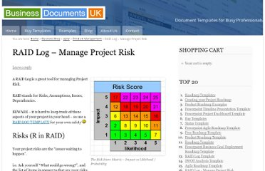 http://business-docs.co.uk/document-templates/raid-log-manage-risk/