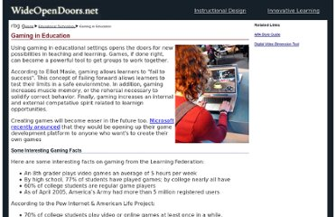 http://www.wideopendoors.net/educational_technology/gaming.html