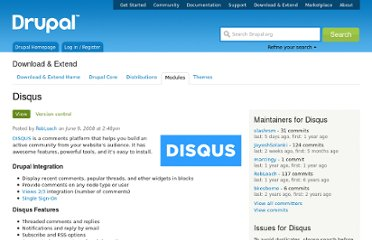 http://drupal.org/project/disqus
