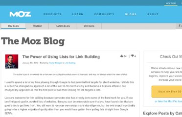 http://www.seomoz.org/blog/the-power-of-using-lists-for-link-building