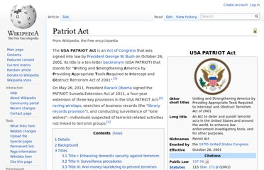 http://en.wikipedia.org/wiki/Patriot_Act