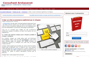 http://www.arobasenet.com/2012/01/creer-site-e-commerce-optimise-en-11-etapes/