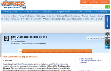 http://www.shmoop.com/diamond-as-big-as-ritz/