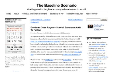 http://baselinescenario.com/2010/02/14/goldman-goes-rogue-%e2%80%93-special-european-audit-to-follow/