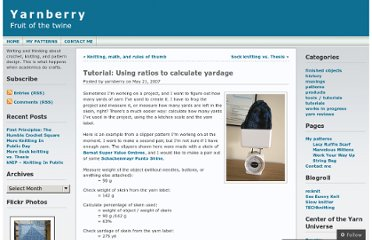 http://yarnberry.wordpress.com/2007/05/21/tutorial-using-ratios-to-calculate-yardage/