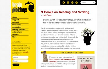 http://www.brainpickings.org/index.php/2012/01/09/best-books-on-writing-reading/