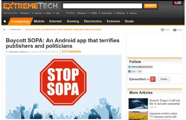 http://www.extremetech.com/computing/112579-boycott-sopa-an-android-app-that-terrifies-publishers-and-politicians