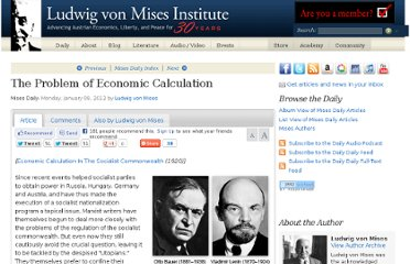 http://mises.org/daily/5733/The-Problem-of-Economic-Calculation