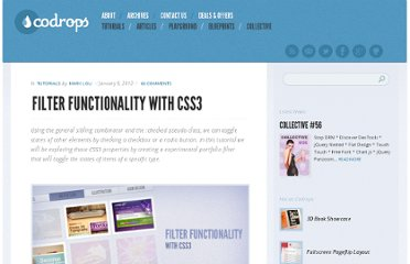 http://tympanus.net/codrops/2012/01/09/filter-functionality-with-css3/