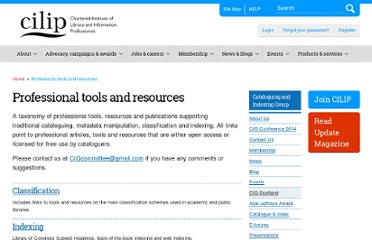 http://www.cilip.org.uk/get-involved/special-interest-groups/cataloguing-indexing/pages/cataloguing-and-metadata.aspx