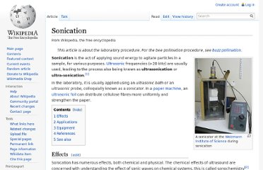 http://en.wikipedia.org/wiki/Sonication