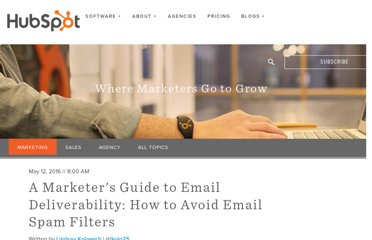 http://blog.hubspot.com/blog/tabid/6307/bid/30594/A-Marketer-s-Guide-to-Getting-Past-Email-Spam-Filters.aspx