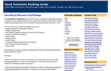 http://whichuniversitybest.blogspot.com/2009/09/university-of-arkansas-in-top-rankings.html