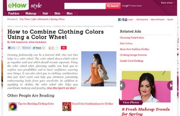 http://www.ehow.com/how_5189327_combine-colors-using-color-wheel.html
