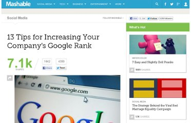 http://mashable.com/2012/01/09/increase-google-rank/