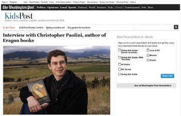 http://www.washingtonpost.com/lifestyle/kidspost/interview-with-christopher-paolini-author-of-eragon-books/2011/10/25/gIQA0gF7lM_story.html