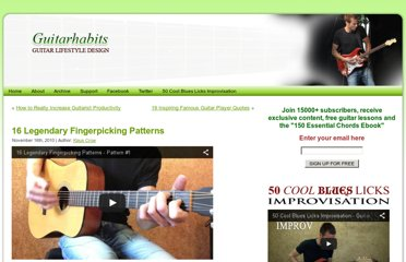 http://www.guitarhabits.com/16-legendary-fingerpicking-patterns/