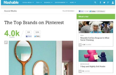 http://mashable.com/2012/01/09/the-top-brands-on-pinterest/