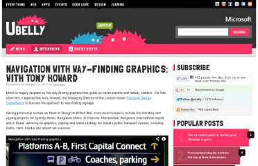 http://www.ubelly.com/2011/10/navigation-with-way-finding-graphics-a-conversation-with-tony-howard/