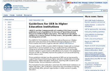 http://www.icde.org/Guidelines+for+OER+in+Higher+Education+institutions.b7C_wJjU1I.ips