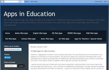 http://appsineducation.blogspot.com/2012/01/10-ipad-apps-for-web-curation.html