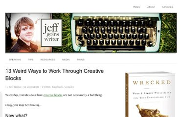 http://goinswriter.com/work-through-creative-blocks/