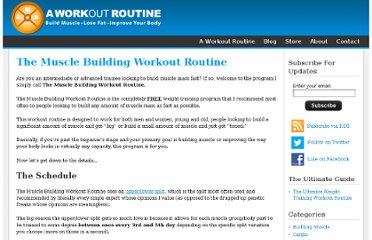 http://www.aworkoutroutine.com/the-muscle-building-workout-routine/
