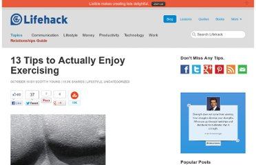 http://www.lifehack.org/articles/lifehack/13-tips-to-actually-enjoy-exercising.html