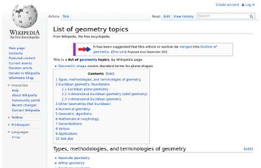 http://en.wikipedia.org/wiki/List_of_geometry_topics#Numerical_geometry